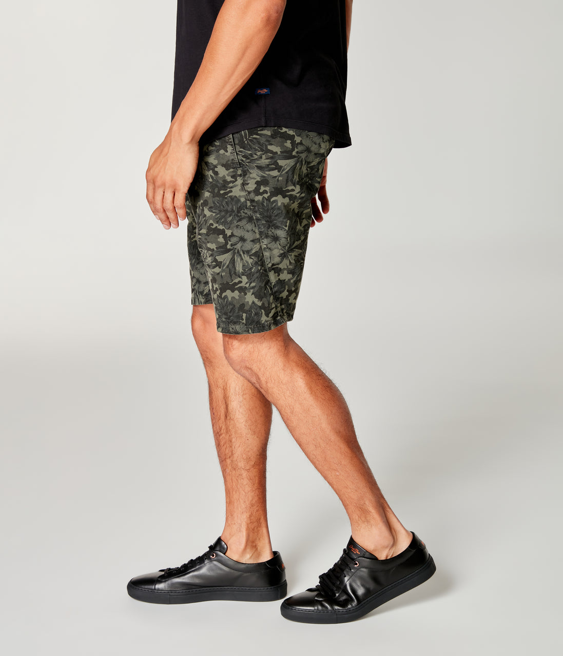 Monaco Stretch Twill Camo Wrap Short - Military Green - Good Man Brand - Monaco Stretch Twill Camo Wrap Short - Military Green