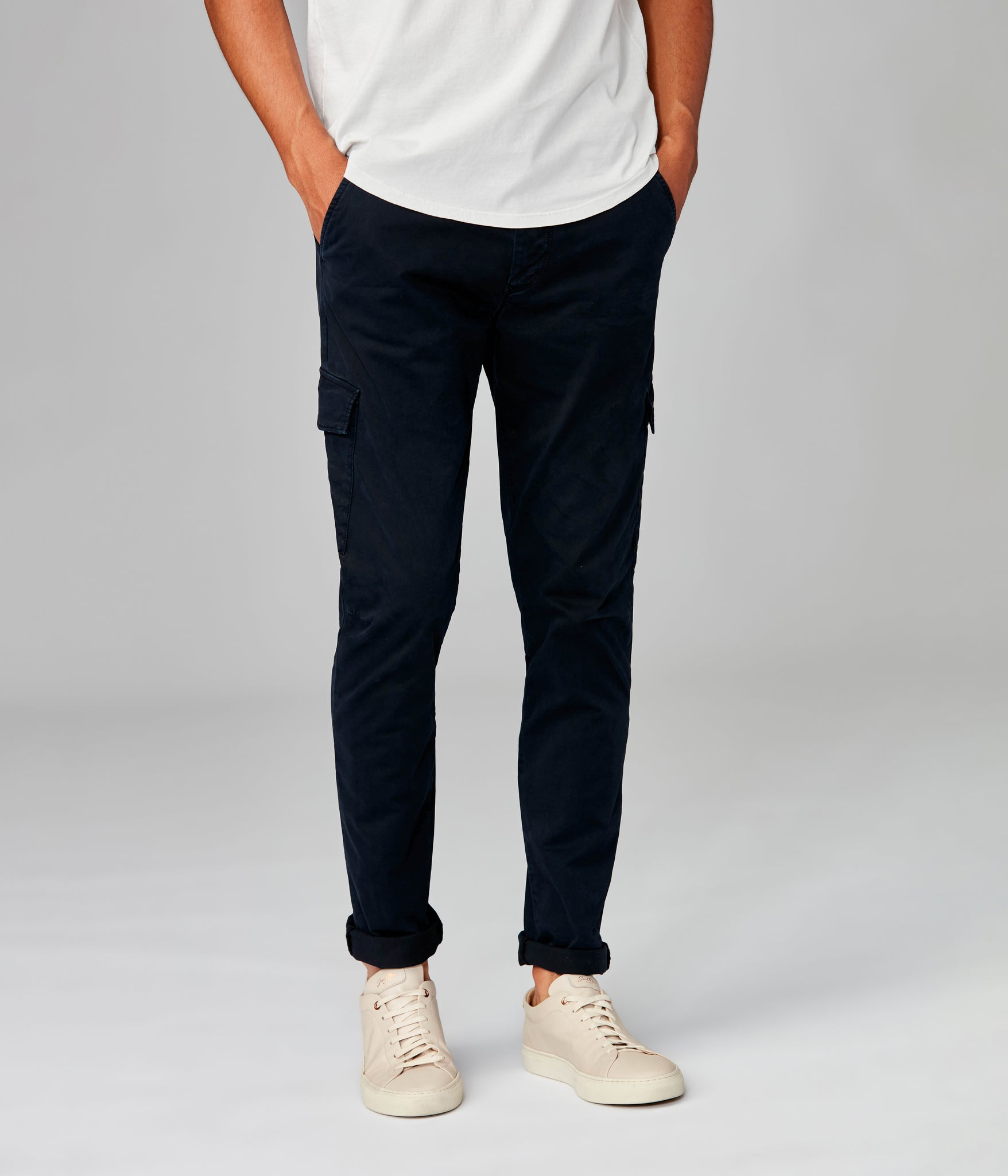 Pro Stretch Twill Star Cargo Chino - Black Navy