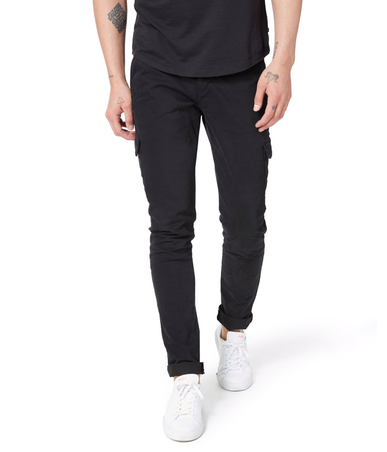 Pro Stretch Twill Star Cargo Chino - Black - Good Man Brand