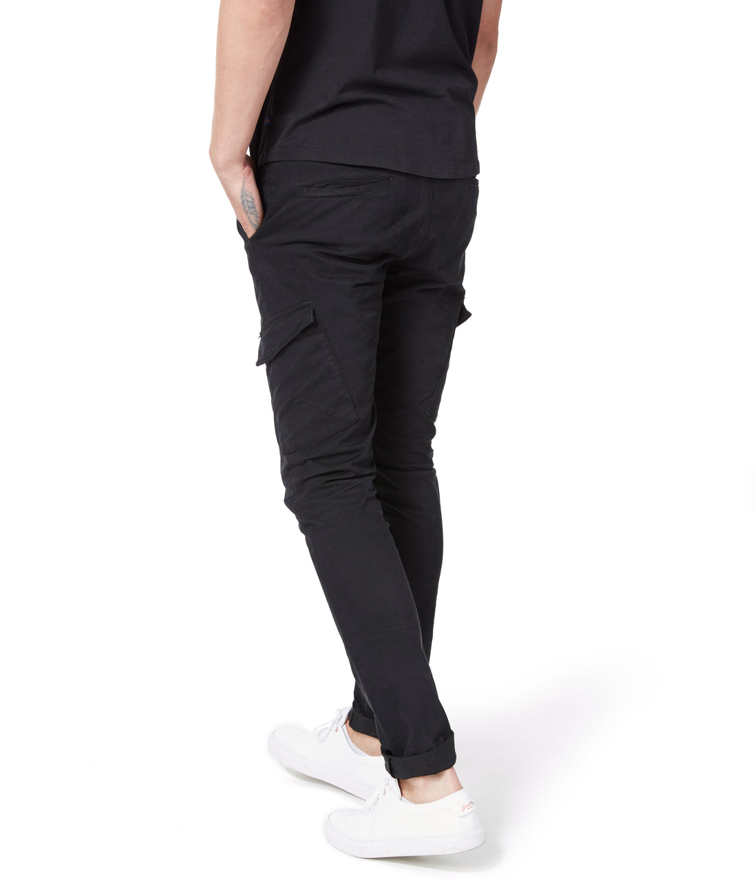 Pro Stretch Twill Star Cargo Chino - Black - Good Man Brand - Pro Stretch Twill Star Cargo Chino - Black