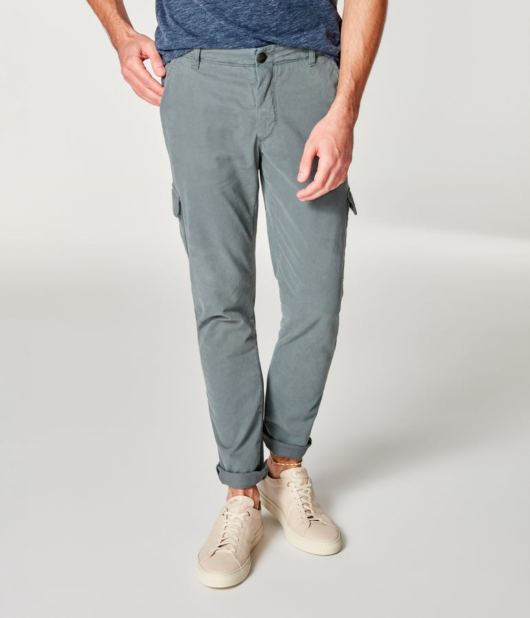 Pro Stretch Twill Star Chino Cargo - Frost Grey - Good Man Brand