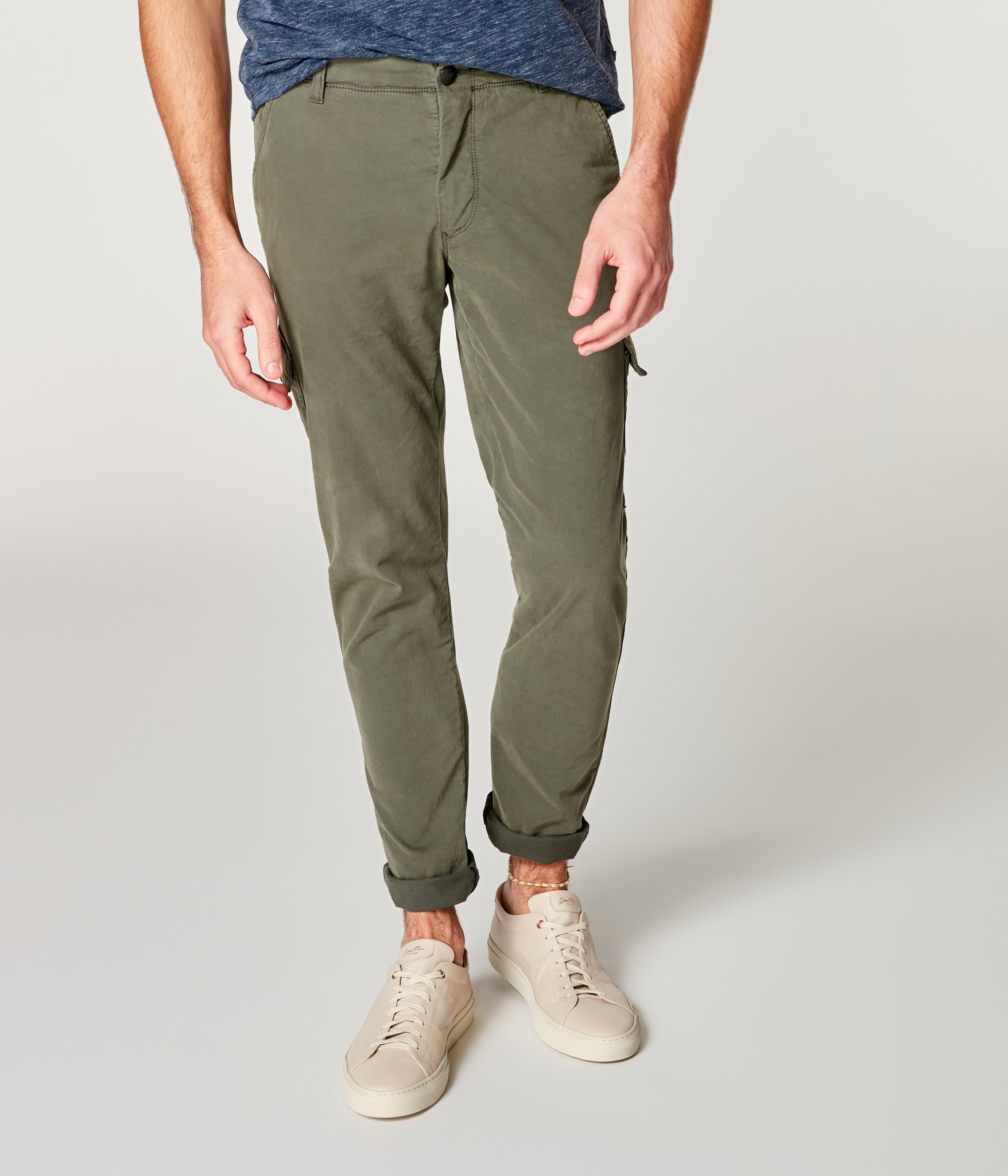 Pro Stretch Twill Star Cargo Chino - Military Green