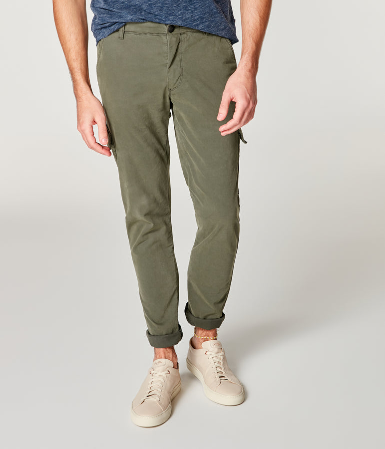 Pro Stretch Twill Star Cargo Chino - Military Green - Good Man Brand