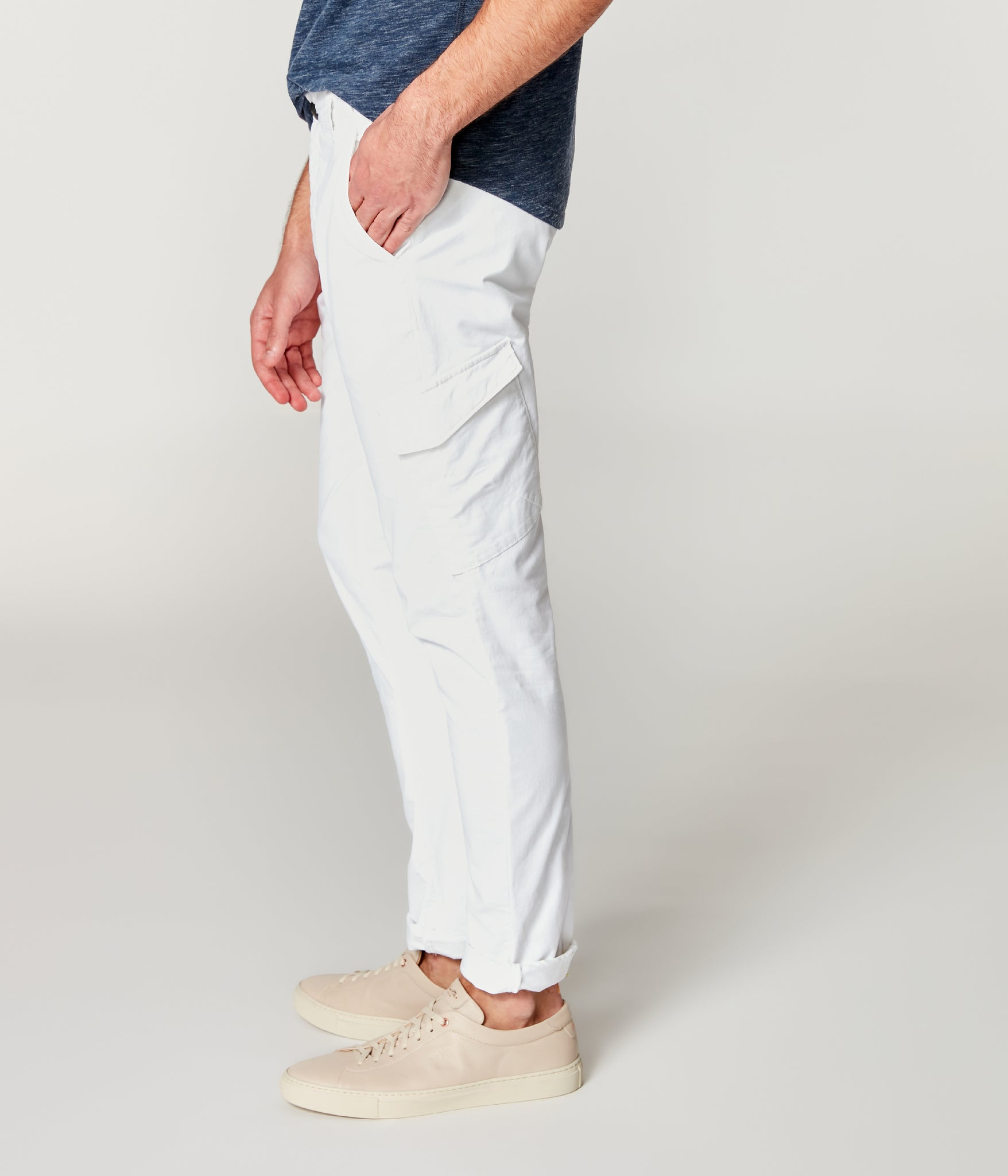 Pro Stretch Twill Star Chino Cargo - Bright White