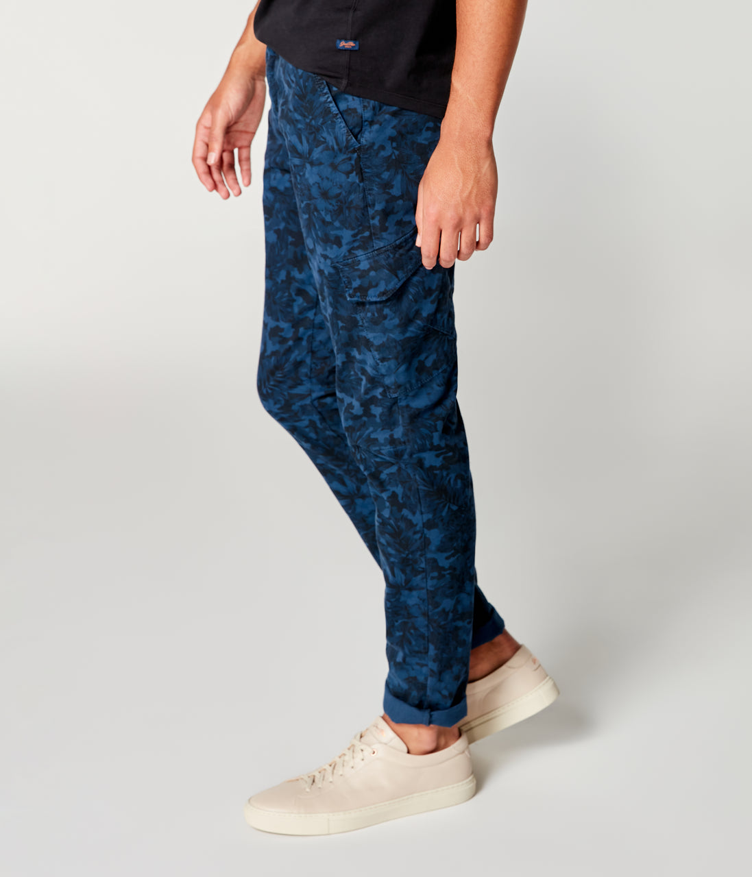 Pro Stretch Twill Star Chino Camo Cargo - Indigo - Good Man Brand - Pro Stretch Twill Star Chino Camo Cargo - Denim Blue