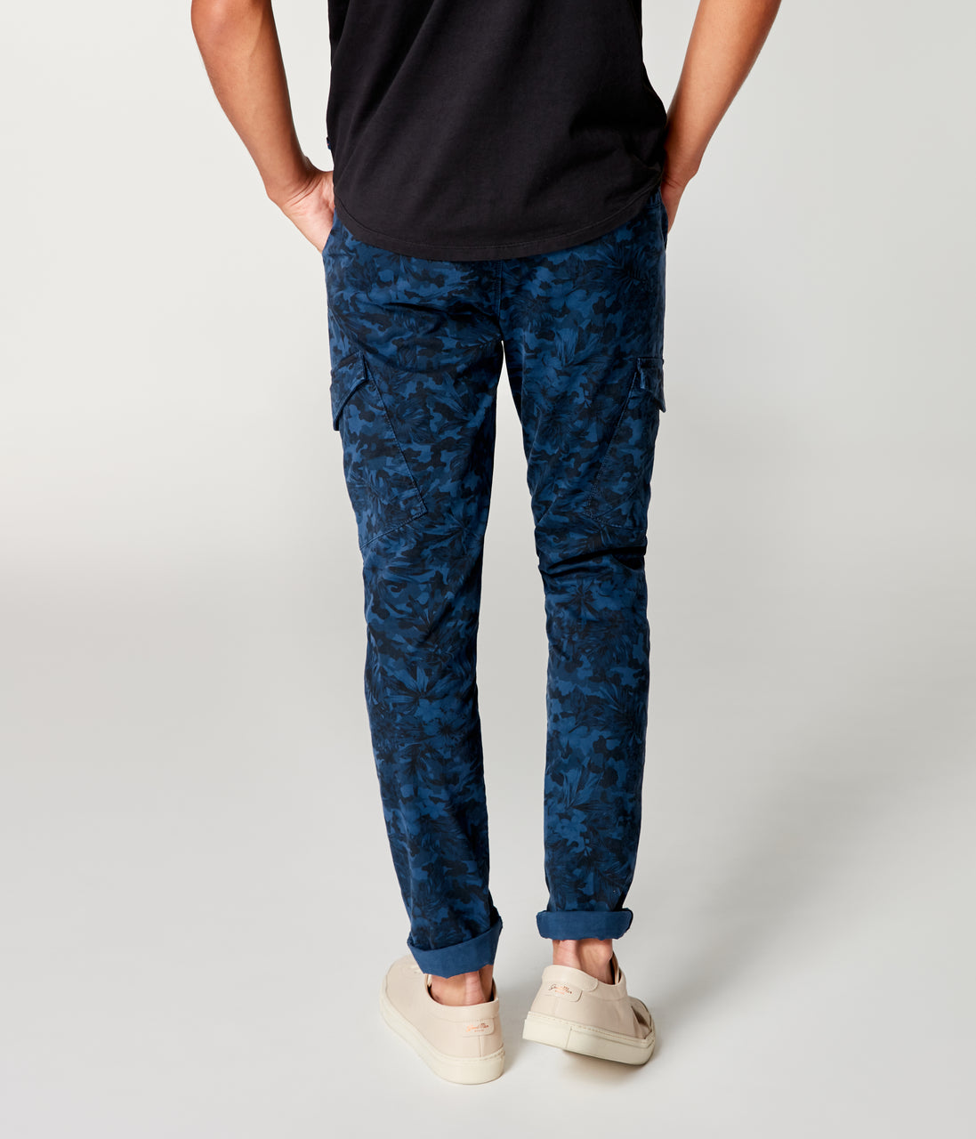 Pro Stretch Twill Star Chino Camo Cargo - Indigo - Good Man Brand - Pro Stretch Twill Star Chino Camo Cargo - Indigo