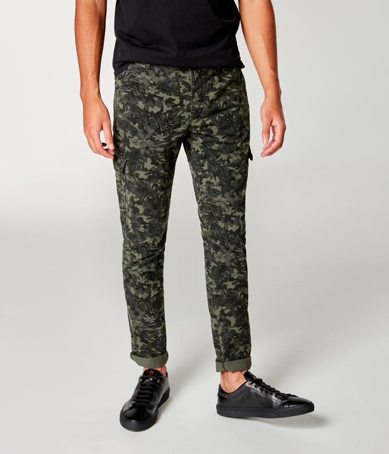 Pro Stretch Twill Star Chino Camo Cargo - Military Green - Good Man Brand