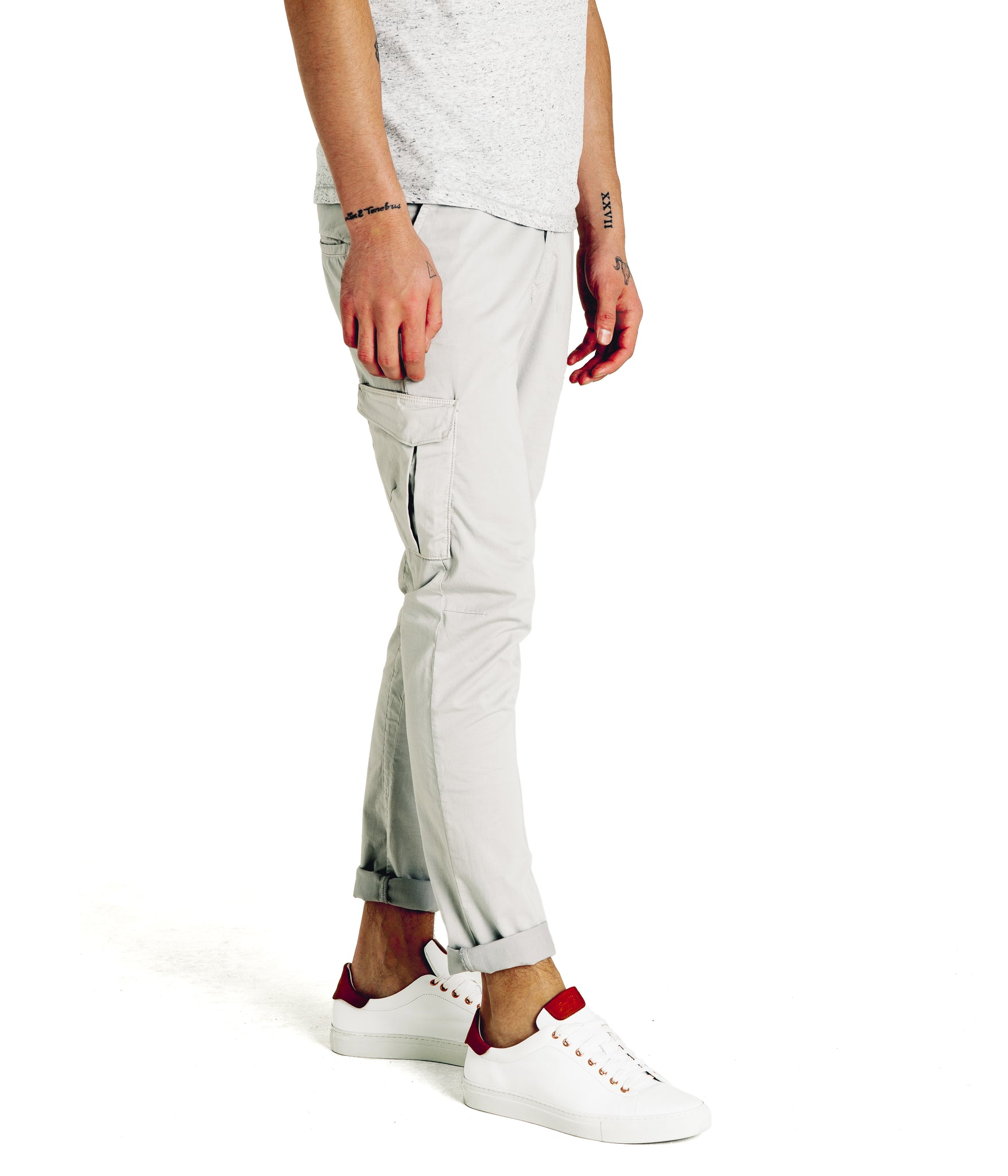 Pro Stretch Poplin Star Chino Cargo - Alloy