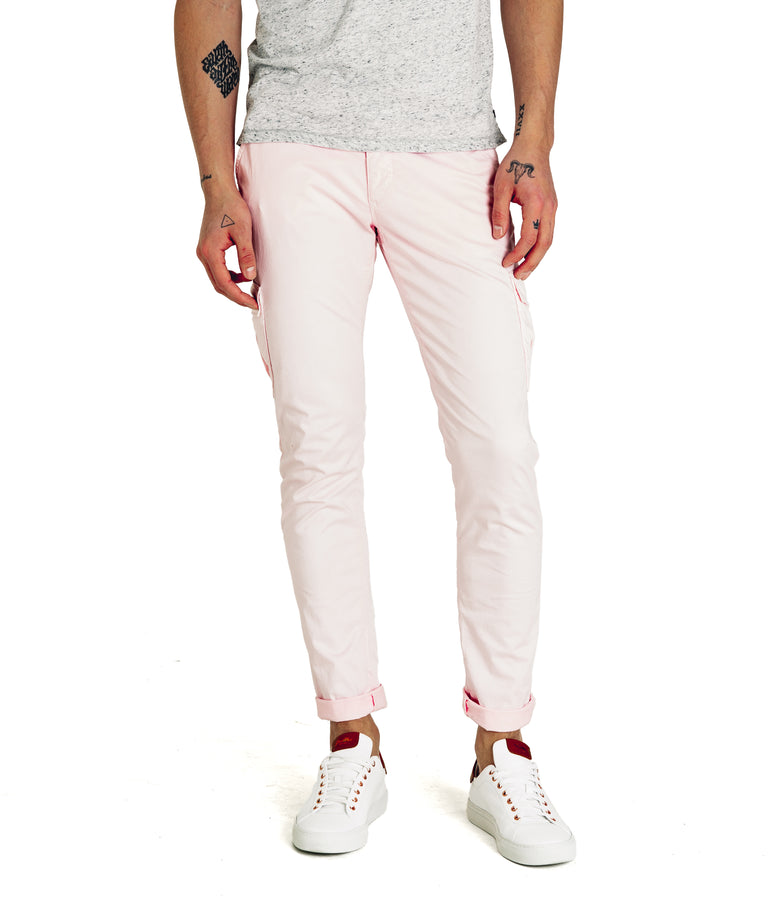Pro Stretch Poplin Star Chino Cargo - Pink - Good Man Brand