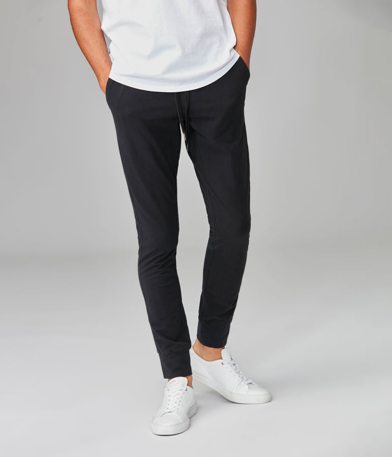 Jetset Jogger in Flex Pro Jersey - Black - Good Man Brand