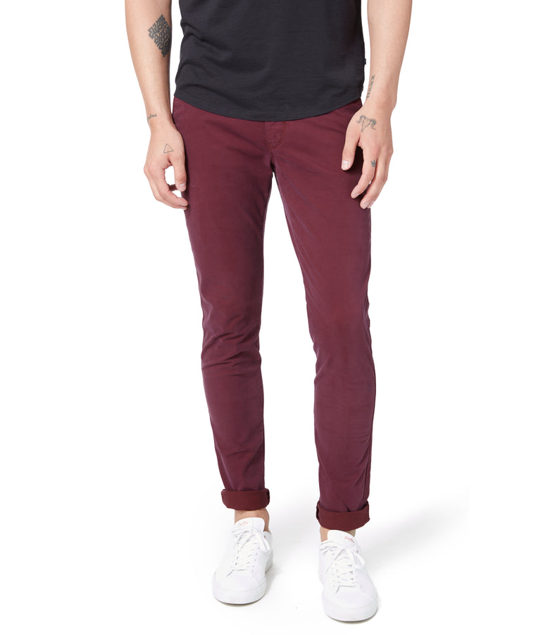 Pro Stretch Twill Star Chino - Wine - Good Man Brand