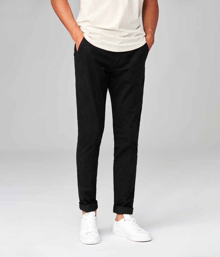 Star Chino in Pro Stretch Twill - Black - Good Man Brand
