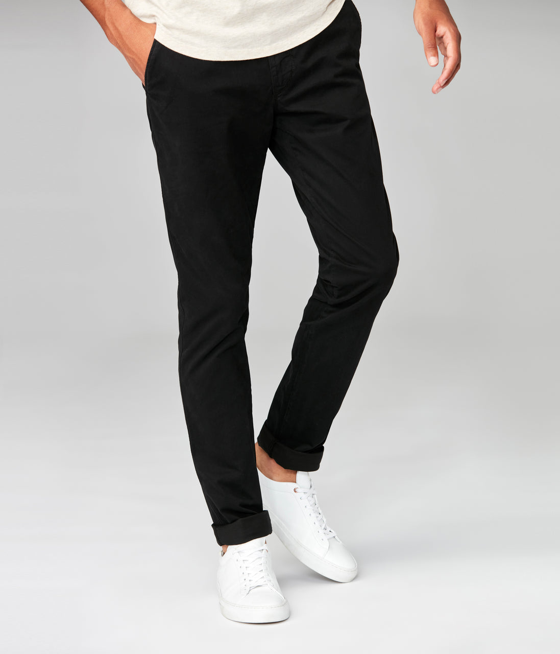 Star Chino in Pro Stretch Twill - Black - Good Man Brand - Star Chino in Pro Stretch Twill - Black