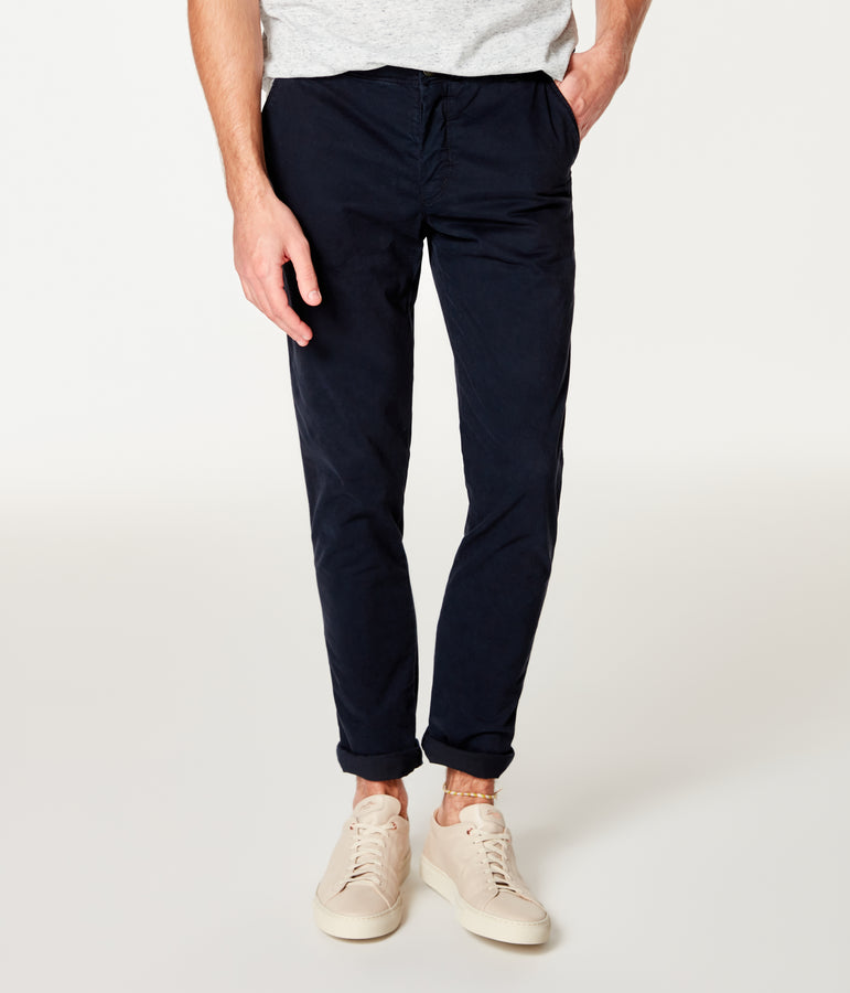 Pro Stretch Twill Star Chino - Black Navy - Good Man Brand