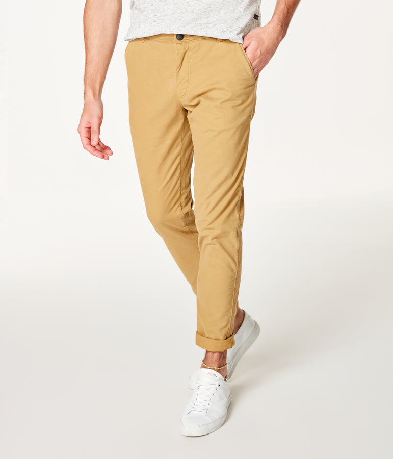 Pro Stretch Twill Star Chino - Khaki - Good Man Brand