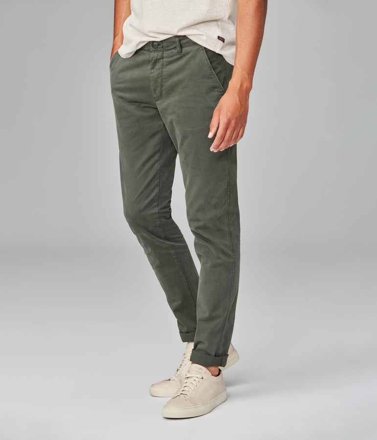 Pro Stretch Twill Star Chino - Military Green - Good Man Brand