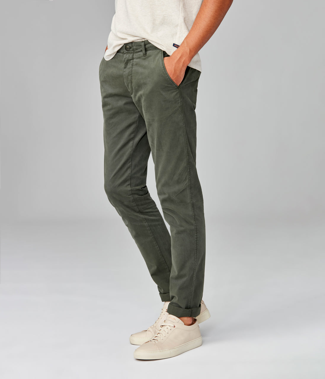 Pro Stretch Twill Star Chino - Military Green - Good Man Brand - Pro Stretch Twill Star Chino - Military Green