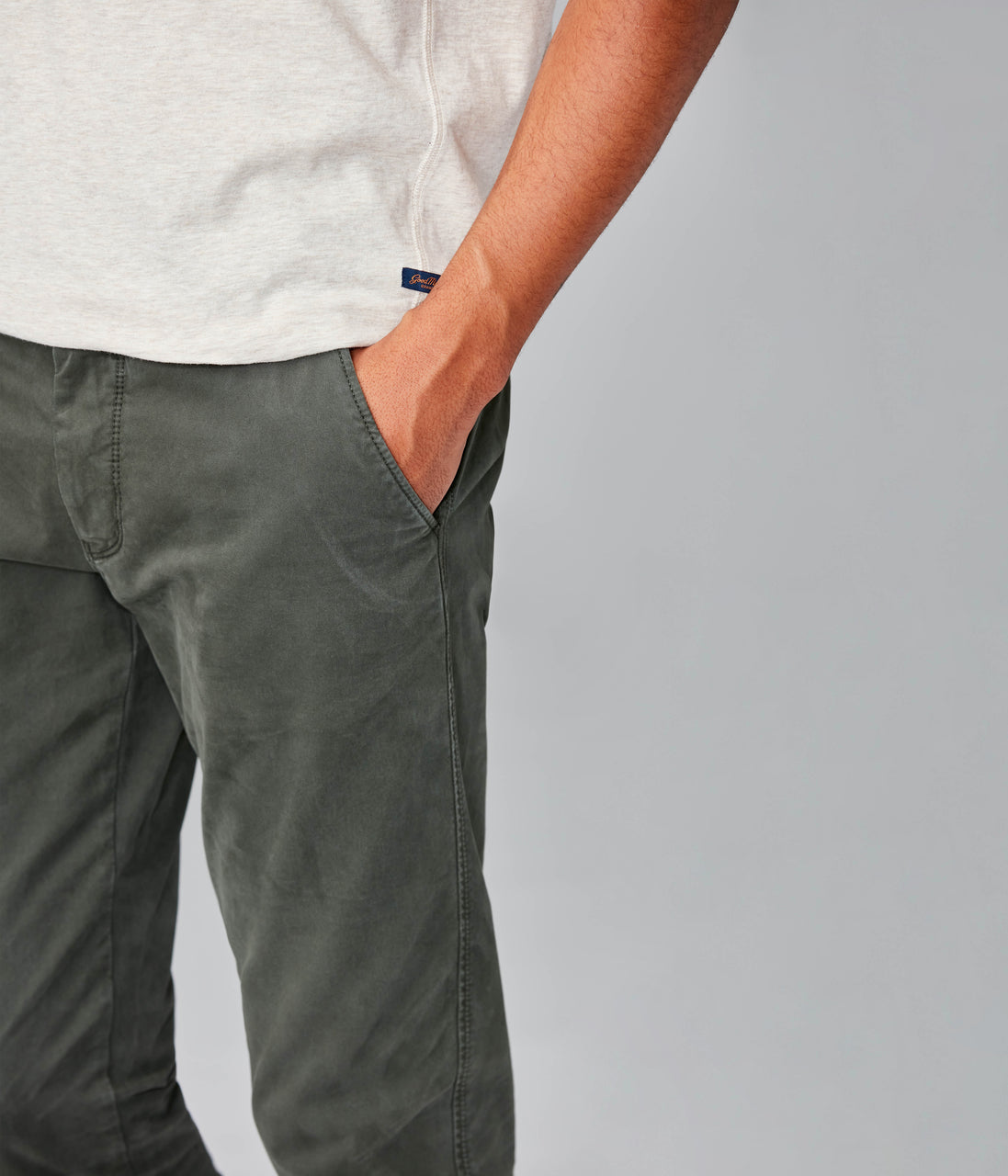 Star Chino in Pro Stretch Twill - Military Green - Good Man Brand - Star Chino in Pro Stretch Twill - Military Green