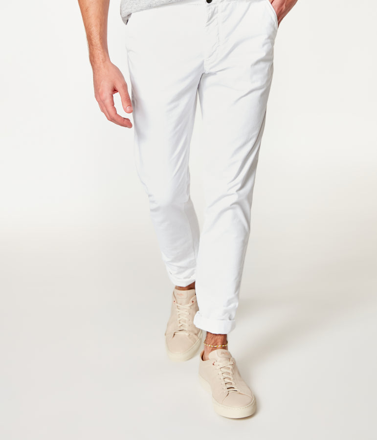 Pro Stretch Twill Star Chino - White - Good Man Brand