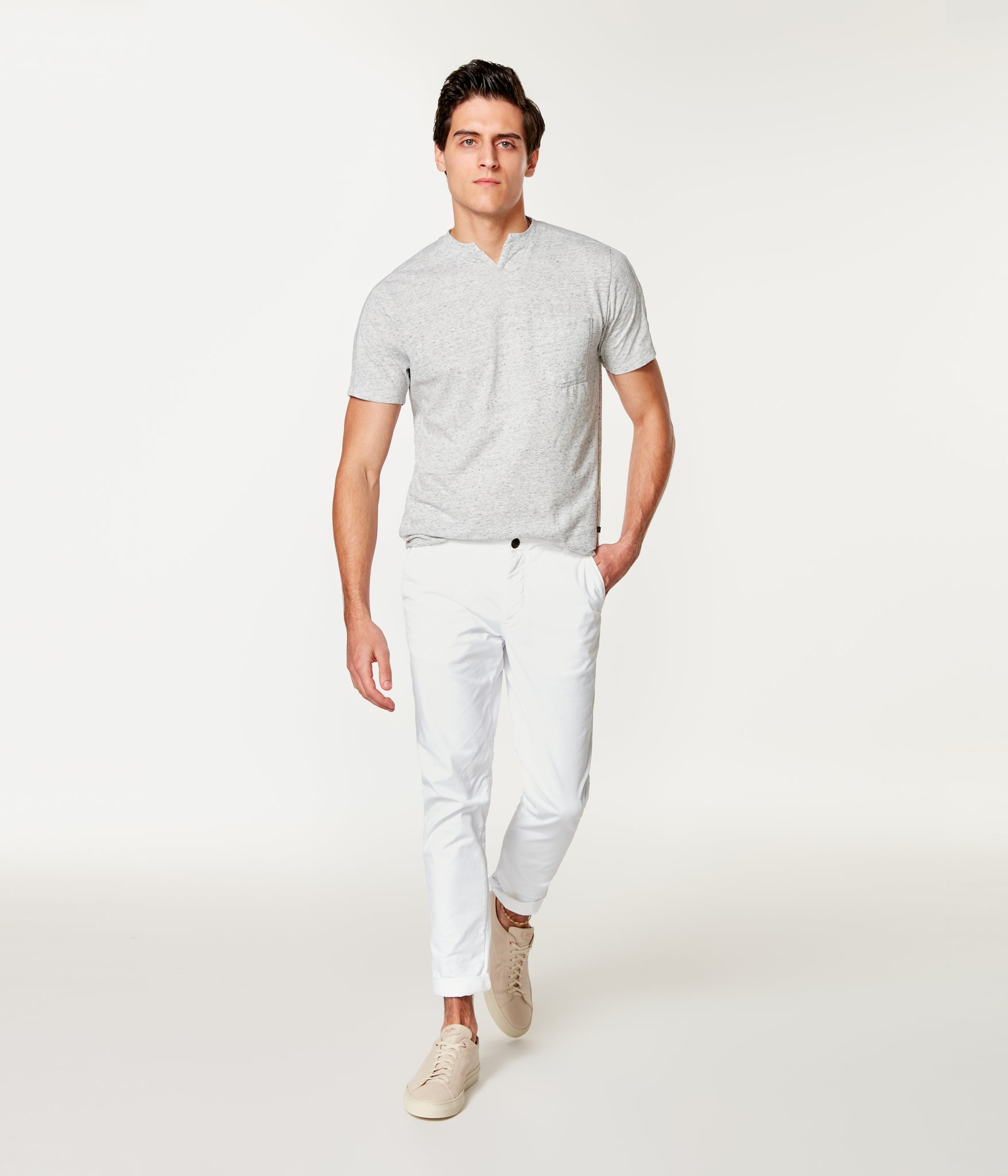 Pro Stretch Twill Star Chino - White