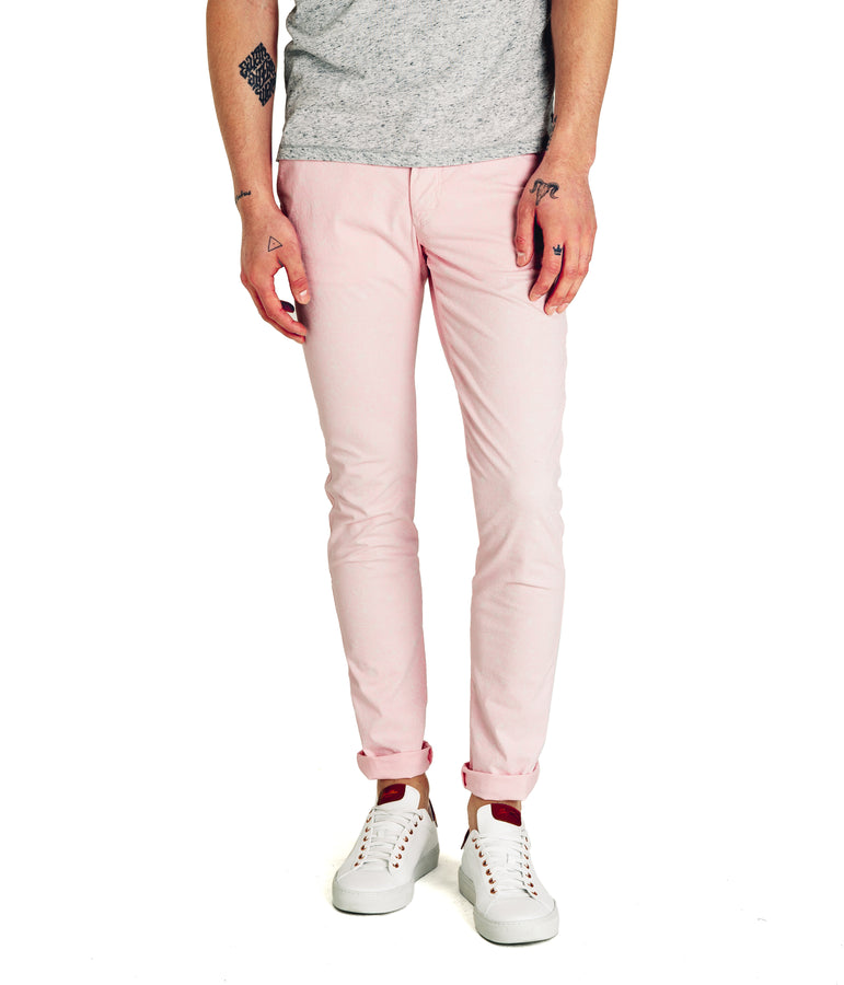 Fiji Floral Print Star Chino - Pink - Good Man Brand