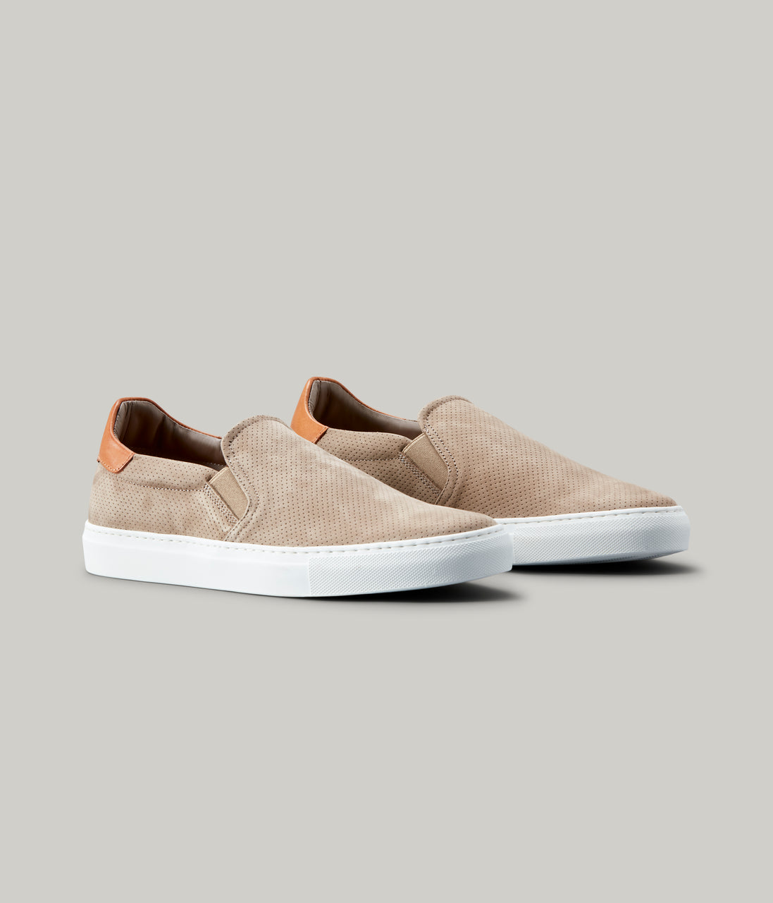 Legend Slip-On Nubuck Pref Sneaker - Sand/Vachetta - Good Man Brand - Legend Slip-On Nubuck Pref Sneaker - Sand/Vachetta