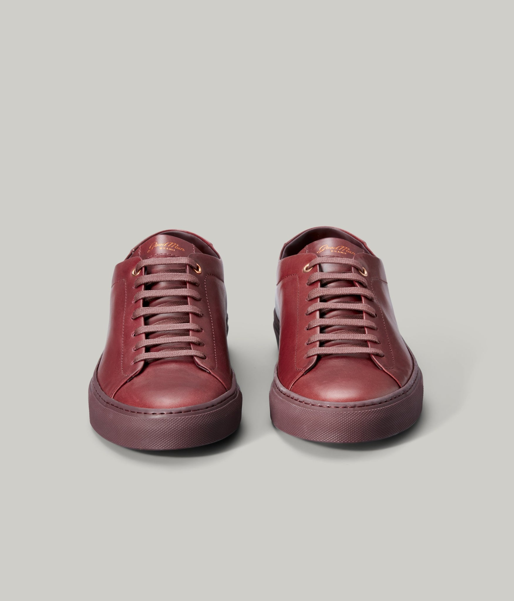 Edge Mono Lo Top Sneaker in Nappa Leather - Burgundy