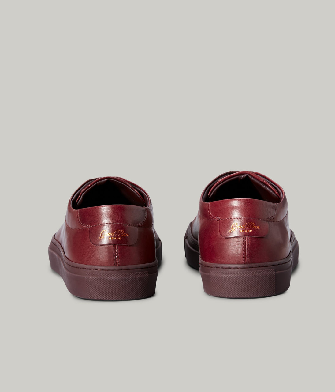 Edge Mono Lo Top Sneaker in Nappa Leather - Burgundy - Good Man Brand - Edge Mono Lo Top Sneaker in Nappa Leather - Burgundy