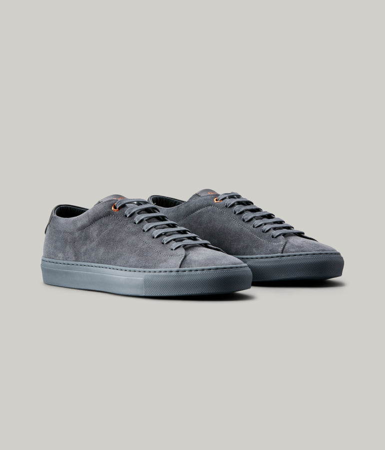 Edge Mono Lo Top Sneaker in Suede - Charcoal - Good Man Brand