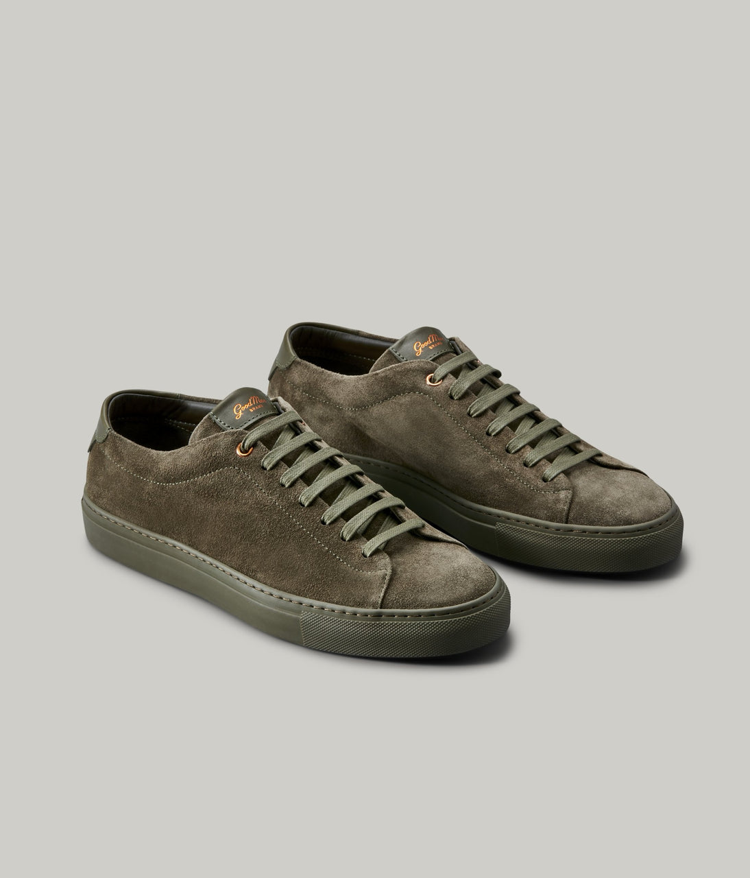 Edge Mono Lo-Top Sneaker in Suede - Olive - Good Man Brand - Edge Mono Lo-Top Sneaker in Suede - Olive