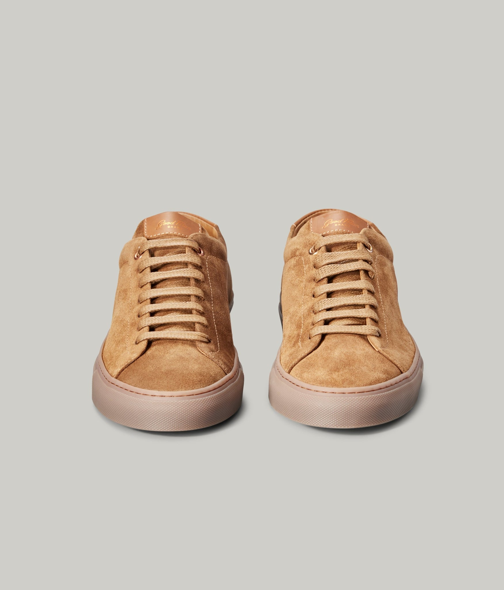 Edge Mono Lo-Top Sneaker in Suede - Snuff