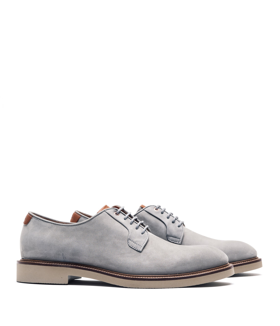 WW Classic Derby Shoe - Grey/Vachetta - Good Man Brand - WW Classic Derby Shoe - Grey/Vachetta