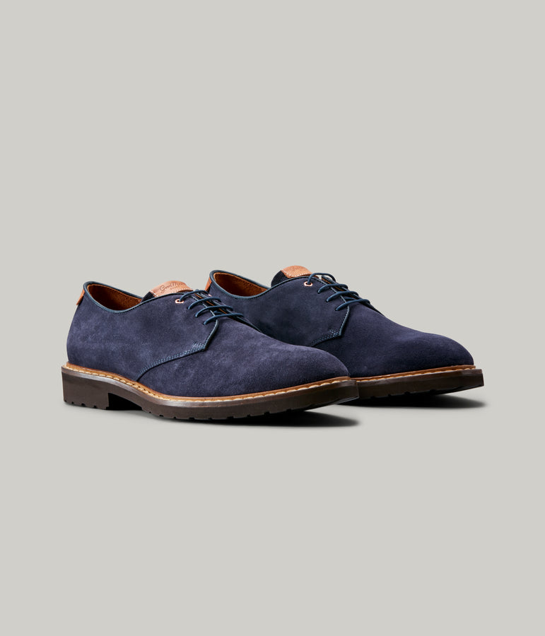 Derby Shoe - Navy - Good Man Brand