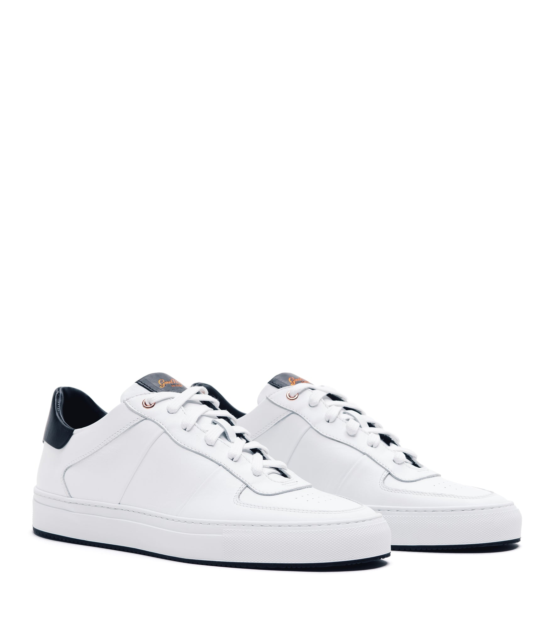 Legend Pro Lo-Top Premium Sneaker - White / Black - Good Man Brand - Legend Pro Lo-Top Premium Sneaker - White / Black