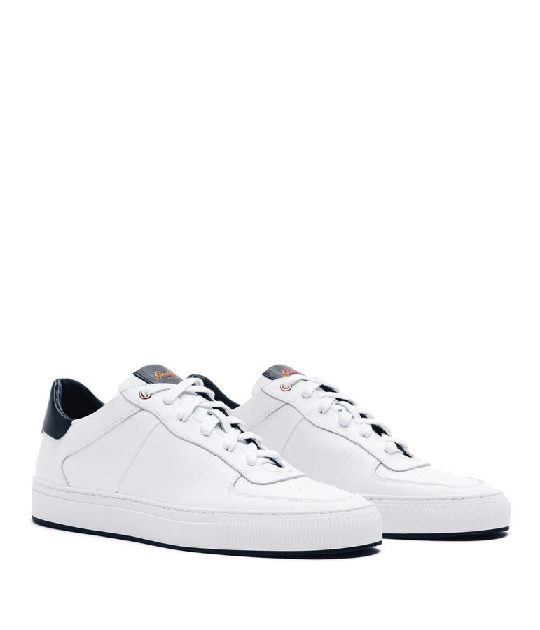 Legend Pro Lo-Top Premium Sneaker - White / Black - Good Man Brand