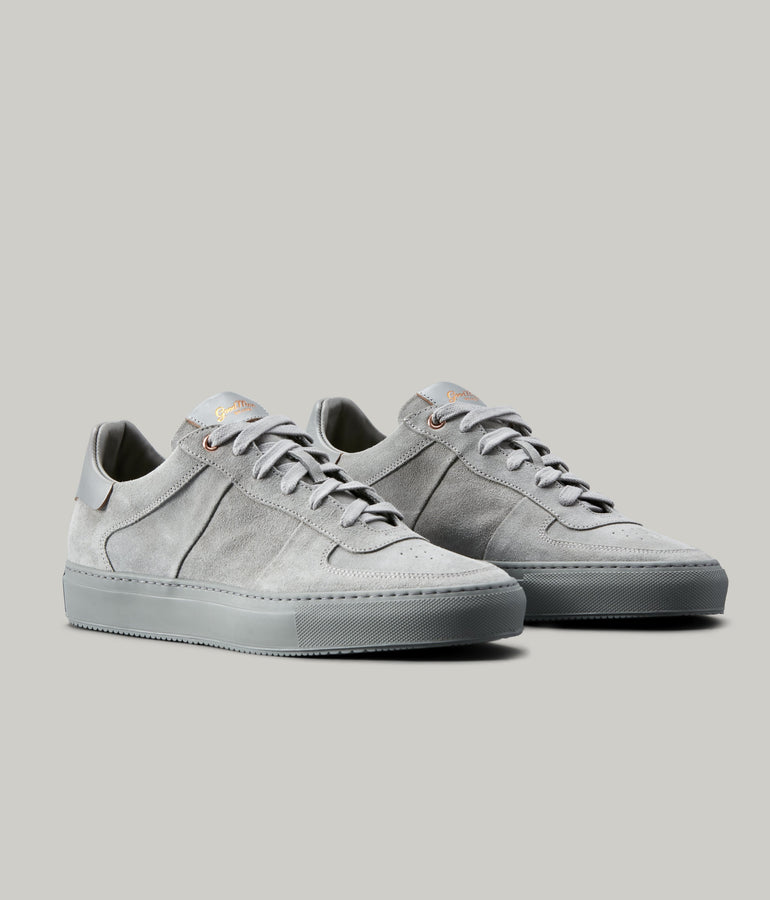 Legend Pro Lo-Top Premium Sneaker in Suede - Silver - Good Man Brand