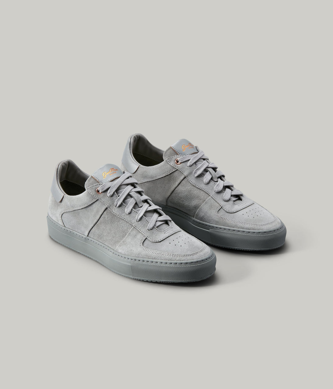 Legend Pro Lo-Top Premium Sneaker in Suede - Silver - Good Man Brand - Legend Pro Lo-Top Premium Sneaker in Suede - Silver