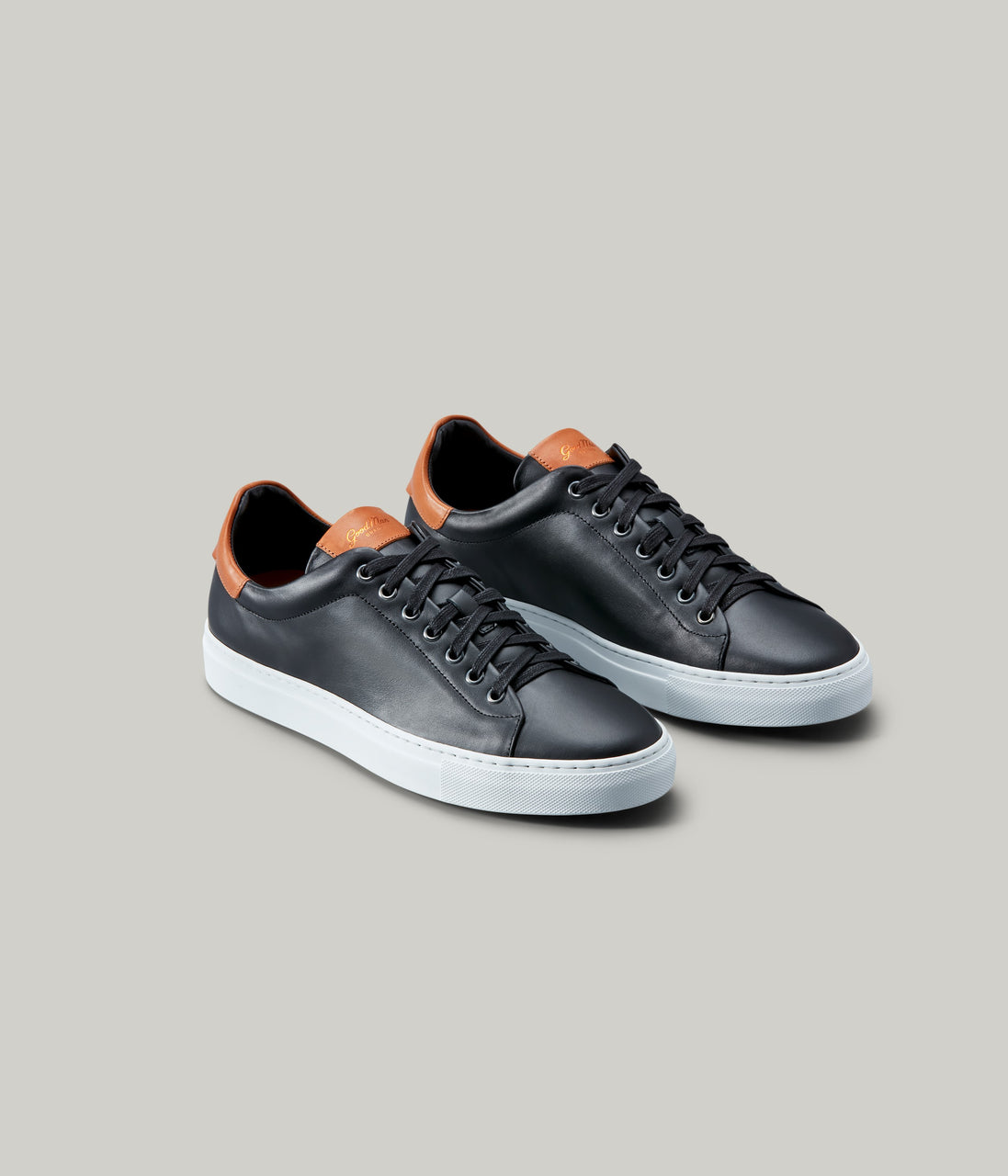 Legend Lo Top Sneaker - Black / Vachetta - Good Man Brand - Legend Lo Top Sneaker - Black / Vachetta