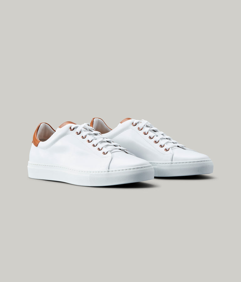 Legend Lo Top Sneaker - White / Vachetta - Good Man Brand