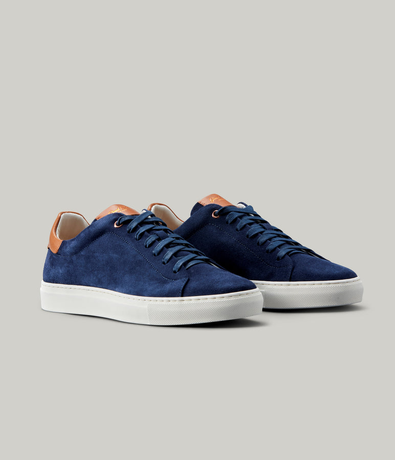 Legend Lo-Top Sneaker - Navy/Vachetta - Good Man Brand