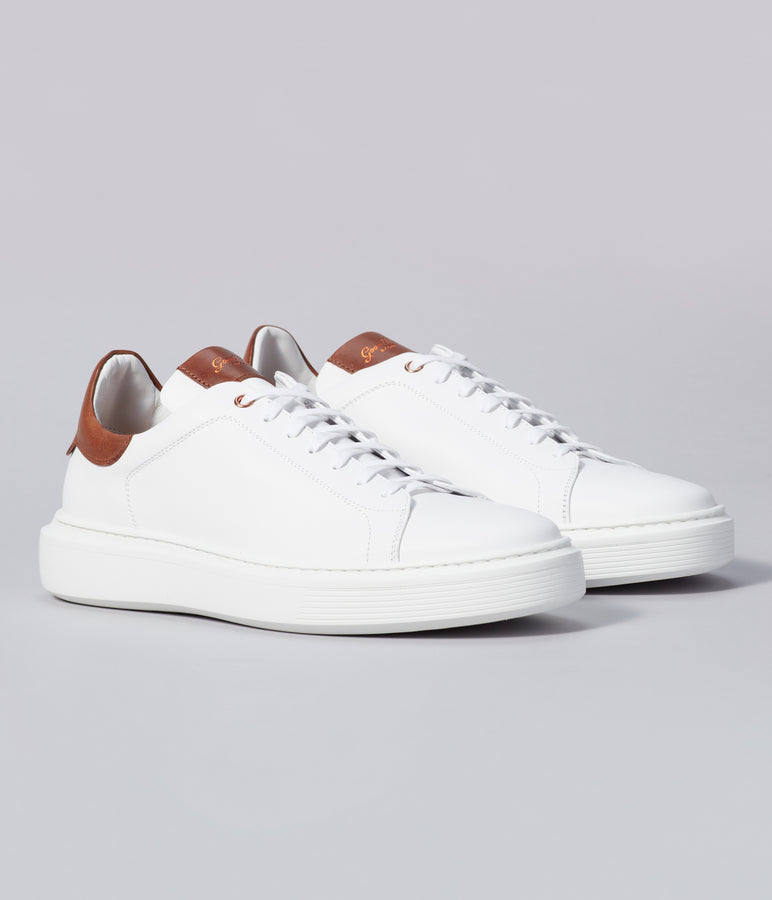 Legend London Classic Sneaker - White / Dark Vachetta - Good Man Brand