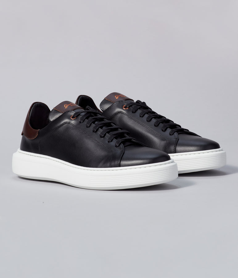 Legend London Classic Sneaker - Black / Dark Vachetta - Good Man Brand
