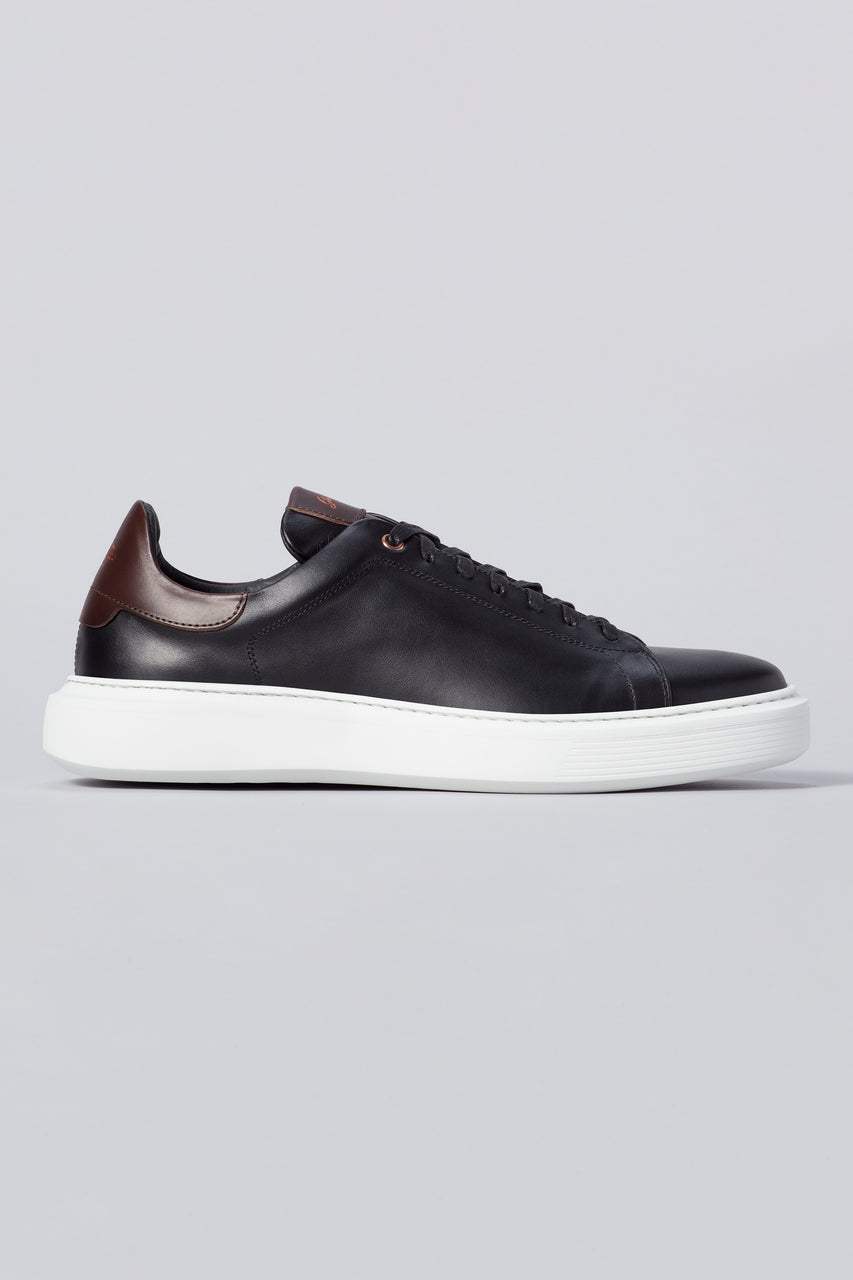 Legend London Classic Sneaker - Black / Dark Vachetta - Good Man Brand - Legend London Classic Sneaker - Black / Dark Vachetta