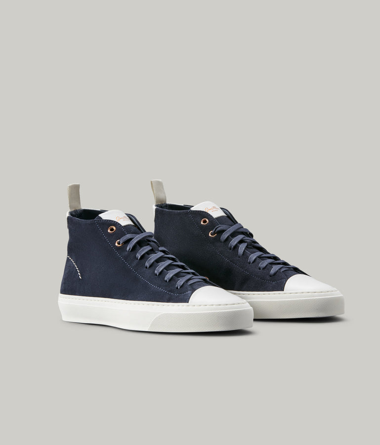 Legacy Hi-Top Sneaker - Navy/Cream - Good Man Brand