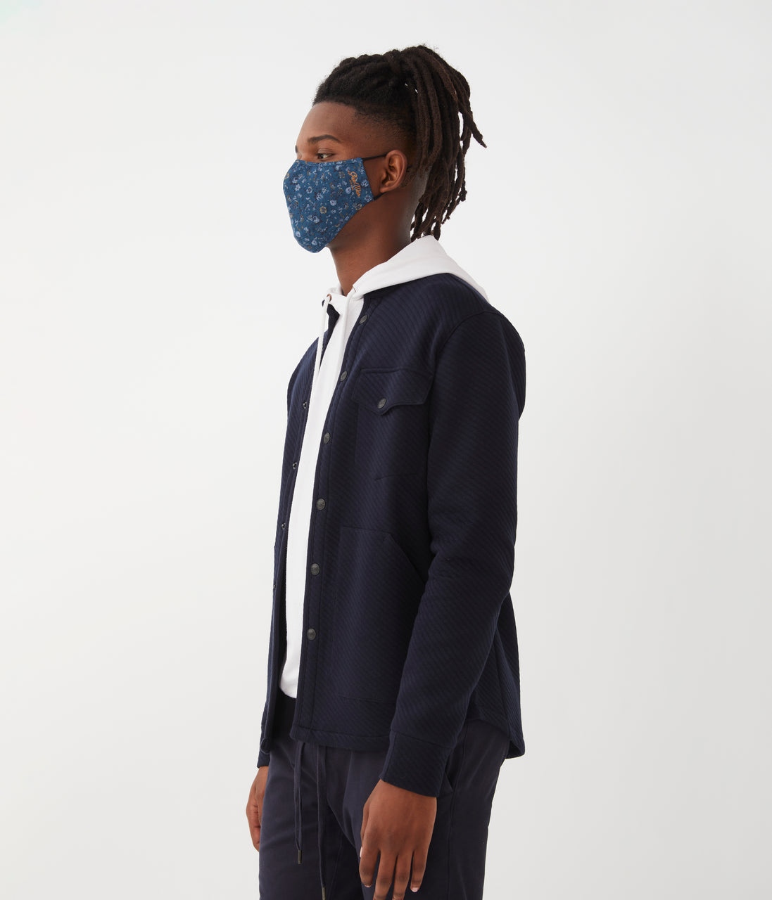 MVP Mask in Premium Italian Cotton - Indigo English Floral - Good Man Brand - MVP Mask in Premium Italian Cotton - Indigo English Floral