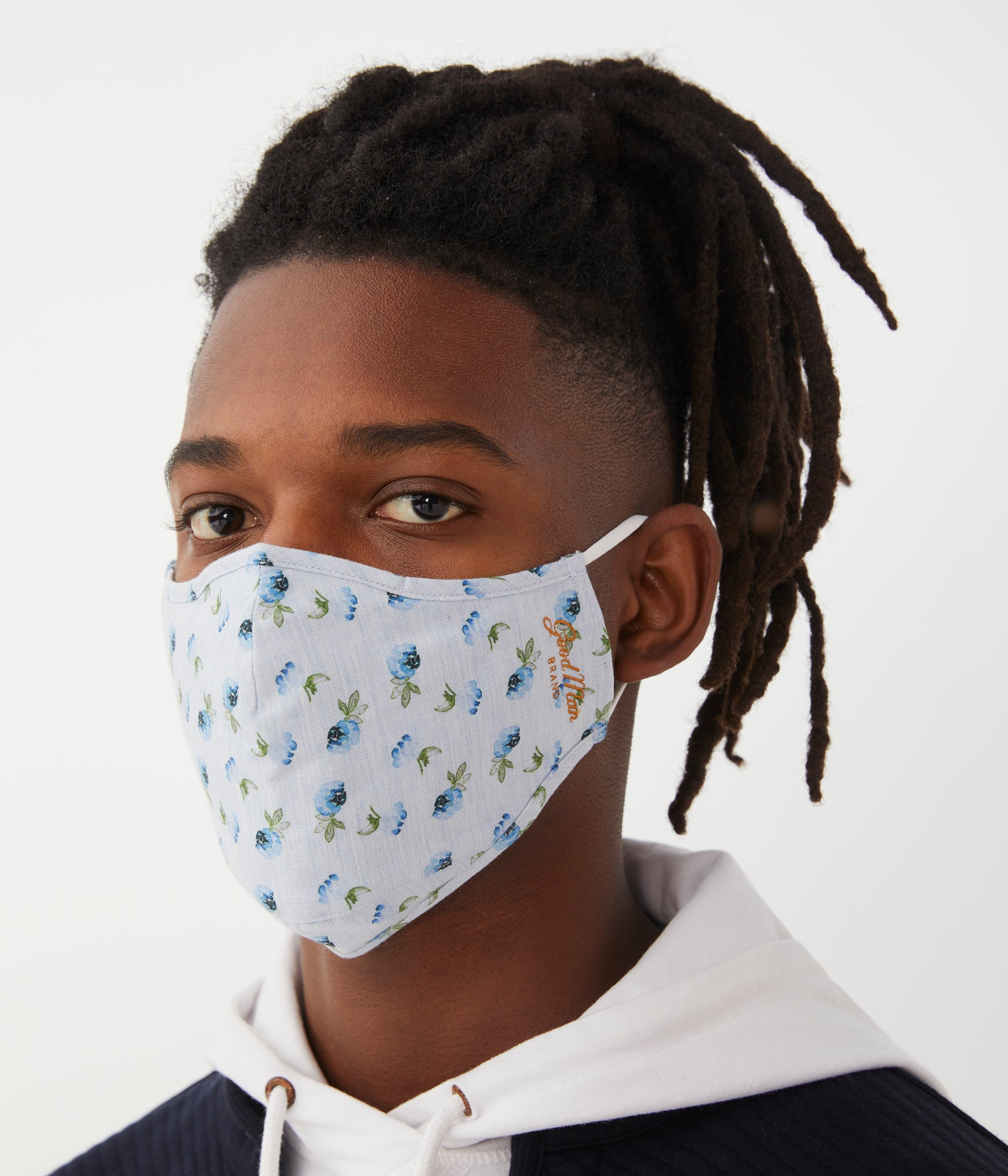 MVP Mask in Premium Italian Cotton - Blue Floral