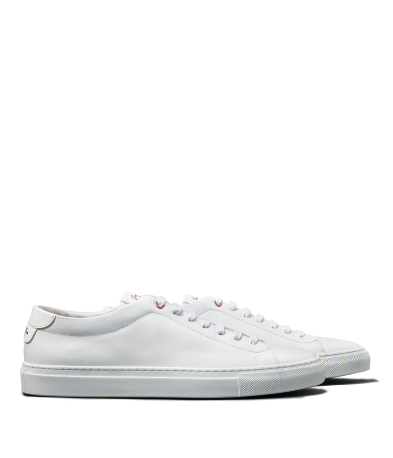 Edge Lo-Top Sneaker - White / White - Good Man Brand