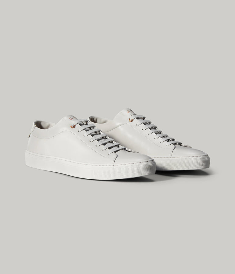 Edge Mono Lo Top Sneaker in Nappa Leather - Silver - Good Man Brand