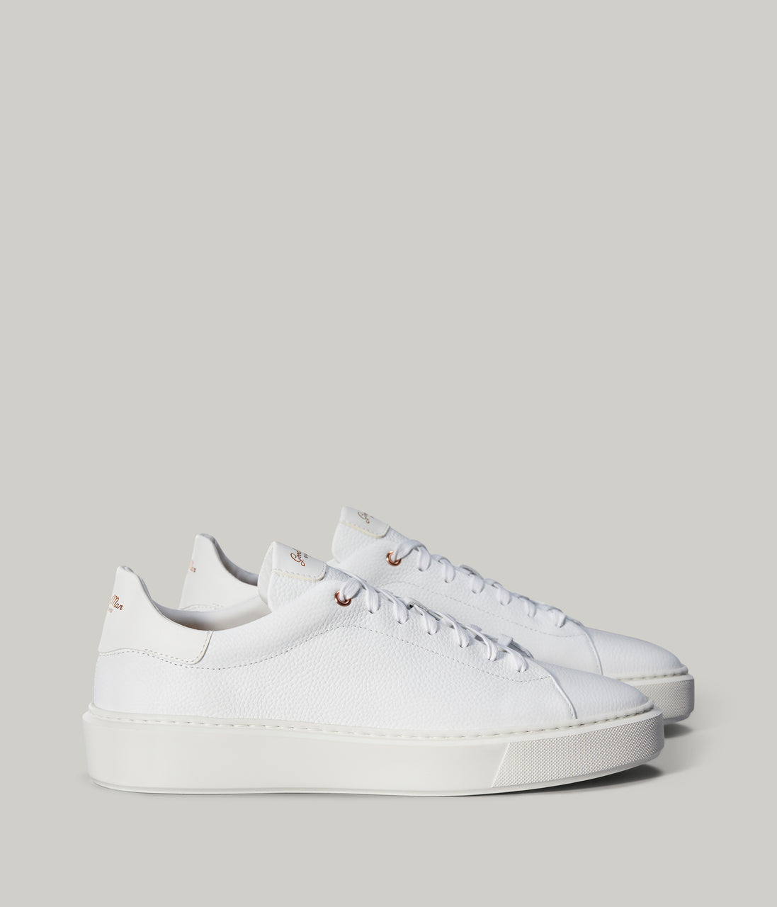 Legend London Sneaker in Pebble Leather - White Pebble - Good Man Brand - Legend London Sneaker in Pebble Leather - White Pebble