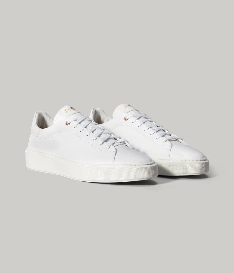 Legend London Sneaker in Pebble Leather - White Pebble - Good Man Brand